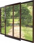 Наклонно-сдвижные деревянные двери ВИСЛА